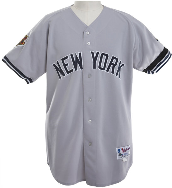 cheaper a3c40 0504e 2001 Mariano Rivera Game Worn Jersey with World Series Patch ...