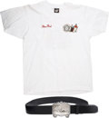 Movie/TV Memorabilia:Costumes, Glenn Ford's Circus of the Stars Belt and T-Shirt.... (Total: 2 Items)