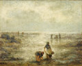 Fine Art - Painting, European:Antique  (Pre 1900), EVERT LAROCK (Belgian, 1865-1901). Clam Diggers. Oil oncanvas. 20 x 25 inches (50.8 x 63.5 cm). Signed lower right:E...