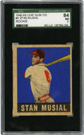 Baseball Cards:Singles (1940-1949), 1948-49 Leaf Stan Musial #4 SGC 84 NM 7....