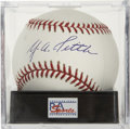 Autographs:Baseballs, Y.A. Tittle Single Signed Baseball, PSA Mint 9. ...