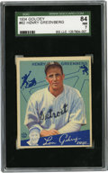 Baseball Cards:Singles (1930-1939), 1934 Goudey Hank Greenberg #62 SGC 84 NM 7....