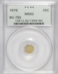 California Fractional Gold: , 1876 25C Indian Octagonal 25 Cents, BG-785, High R.5, MS62 PCGS.PCGS Population (6/16). (#10612)...