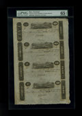 Obsoletes By State:Ohio, Cincinnati, OH- Unknown Issuer $5-$3-$2-$1 18__ Uncut Sheet. ...