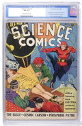 Golden Age (1938-1955):Science Fiction, Science Comics #1 (Fox, 1940) CGC FN+ 6.5 Cream to off-whitepages....