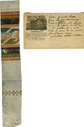 """Miscellaneous:Ephemera, [Lincoln's Death] Peterson House Wallpaper. An ornately patternedand bordered strip of wallpaper, approximately 2"""" x 11"""", t...(Total: 2 Items)"""