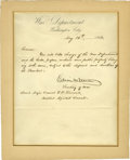 """Political:Civil War, Edwin M. Stanton Letter Signed as secretary of war. One page, 7.75"""" x 9.75"""", """"Washington City"""", May 26, 1868, on depart..."""
