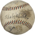 Autographs:Baseballs, 1930's-90's Hall of Famers Signed Baseball with Babe Ruth, Reggie Jackson....