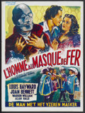 """Movie Posters:Adventure, The Man in the Iron Mask (United Artists, R-1950s). Belgian (14"""" X19""""). Adventure...."""