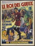 "Movie Posters:Adventure, If I Were King (Paramount, R-1950s). Belgian (14"" X 18"").Adventure...."