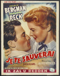 """Movie Posters:Hitchcock, Spellbound (United Artists, 1940s). Belgian (14"""" X 22"""") FirstBelgian Release. Hitchcock...."""