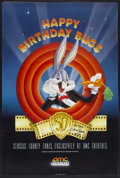 "Movie Posters:Animated, Bugs Bunny 50th Anniversary (AMC Theatres, 1989). Autographed OneSheet (27"" X 40"") DS. Animated...."
