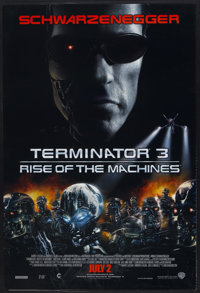 """Terminator 3: Rise of the Machines Lot (Warner Brothers, 2003). One Sheets (2) (27"""" X 40"""") SS Advance Style B..."""