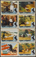 """Movie Posters:Western, King of the Sierras (Grand National, 1938). Lobby Card Set of 8 (11"""" X 14""""). Western.... (Total: 8 Items)"""