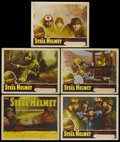 "Movie Posters:War, The Steel Helmet (Lippert, 1951). Title Lobby Card and Lobby Cards(4) (11"" X 14""). War.... (Total: 5 Items)"