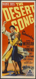"""Movie Posters:Musical, The Desert Song (Warner Brothers, 1943). Australian Daybill (13"""" X 30""""). Musical...."""