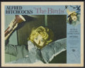 "Movie Posters:Hitchcock, The Birds (Universal, 1963). Autographed Lobby Card (11"" X 14"")Hitchcock...."