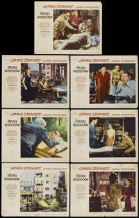 """Rear Window (Paramount, 1954). Lobby Cards (7) (11"""" X 14""""). Hitchcock.... (Total: 7 Items)"""