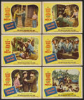 "Movie Posters:Elvis Presley, Love Me Tender (20th Century Fox, 1956). Lobby Cards (6) (11"" X14""). Elvis Presley.... (Total: 6 Items)"