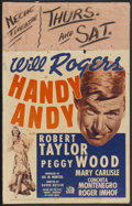 "Movie Posters:Comedy, Handy Andy (Fox, R-1937). Window Card (14"" X 22""). Comedy...."