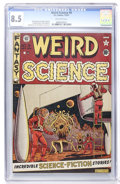 Golden Age (1938-1955):Science Fiction, Weird Science #8 (EC, 1951) CGC VF+ 8.5 Off-white pages....