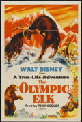 "Movie Posters:Documentary, The Olympic Elk (RKO, 1952). One Sheet (27"" X 41"") Style A. Walt Disney Documentary...."