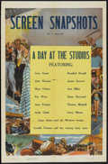 """Movie Posters:Short Subject, Screen Snapshots (Columbia, 1932). One Sheet (27"""" X 41"""") """"A Day at the Studios"""". Short Subject...."""
