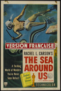 """Movie Posters:Documentary, The Sea Around Us (RKO, 1953). One Sheet (27"""" X 41"""") Style A. Documentary...."""