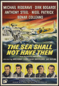 """Movie Posters:War, The Sea Shall Not Have Them (Rank, 1954). British One Sheet (27"""" X40""""). War...."""