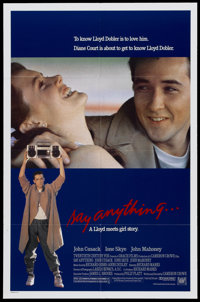 "Say Anything (20th Century Fox, 1989). One Sheet (27"" X 41""). Cult Classic"