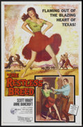 "Movie Posters:Western, The Restless Breed (20th Century Fox, 1957). One Sheet (27"" X 41""). Western...."