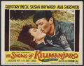 """Movie Posters:Adventure, The Snows of Kilimanjaro Lot (20th Century Fox, 1952). Lobby Cards(6) and British Lobby Card (11"""" X 14""""). Adventure.... (Total: 7Items)"""