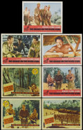 "Movie Posters:Academy Award Winner, The Bridge On The River Kwai (Columbia, 1958 and R-1963). LobbyCards (7) (11"" X 14""). Academy Award Winner.... (Total: 7 Items)"