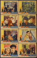 "Movie Posters:Adventure, Souls at Sea (Paramount, 1937). Lobby Card Set of 8 (11"" X 14"").Adventure.... (Total: 8 Items)"