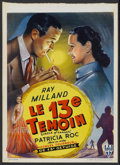 """Movie Posters:Mystery, Circle of Danger (RKO, 1951). Belgian (13.75"""" X 19""""). Mystery...."""