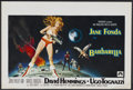 "Movie Posters:Science Fiction, Barbarella (Paramount, 1968). Belgian (14"" X 21""). ScienceFiction...."
