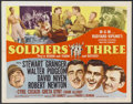"Movie Posters:Adventure, Soldiers Three (MGM, 1951). Half Sheet (22"" X 28"") Style A.Adventure...."