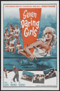 "Movie Posters:Adventure, Seven Daring Girls (Manson Distributing, 1962). One Sheet (27"" X41""). Adventure...."