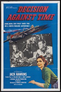 """Decision Against Time (MGM, 1957). One Sheet (27"""" X 41""""). Drama"""
