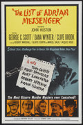 "Movie Posters:Mystery, The List of Adrian Messenger (Universal, 1963). One Sheet (27"" X41""). Mystery...."
