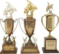 Movie/TV Memorabilia:Awards, Glenn Ford's Rodeo Trophies.... (Total: 3 Items)