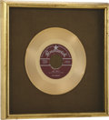 "Music Memorabilia:Awards, The Crickets ""Oh, Boy!"" Gold Single Award...."