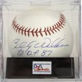 "Autographs:Baseballs, Billy Williams ""H.O.F. 87"" Single Signed Baseball, PSA Mint 9. ..."
