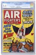 Golden Age (1938-1955):Adventure, Air Fighters Comics #6 (Hillman Fall, 1943) CGC FN- 5.5 Off-white pages....