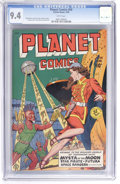 Golden Age (1938-1955):Science Fiction, Planet Comics #59 (Fiction House, 1949) CGC NM 9.4 White pages....