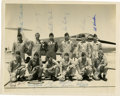 Autographs:Celebrities, Charlie Duke, Al Worden, Stuart Roosa, & Hank Hartsfield: TestPilot Class Photo Signed, from the Personal Collection of Charl...