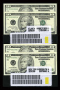 Small Size:Group Lots, $10 Label Sets. Choice Crisp Uncirculated or Better.. ... (Total: 58 notes)