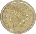 California Fractional Gold: , 1875 50C Indian Round 50 Cents, BG-1056, High R.4, MS64 PCGS. PCGSPopulation (9/3). NGC Census: (1/4). (#10885). From ...