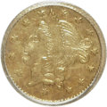 California Fractional Gold: , 1855 50C Liberty Round 50 Cents, BG-432, R.5, MS63 PCGS. PCGSPopulation (8/7). NGC Census: (2/0). (#10468). From The H...