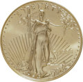 Errors, 1998 G$50 One-Ounce Gold Eagle--Obverse Struck Thru--MS69 ANACS....